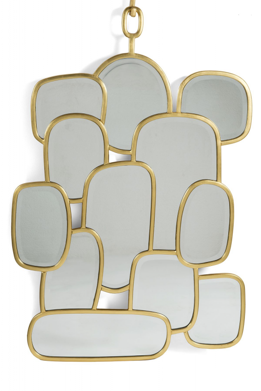 The playful domino mirror by hubert le gall for Composition miroir