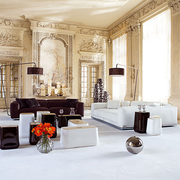 Elegant interiors combined with modern furniture