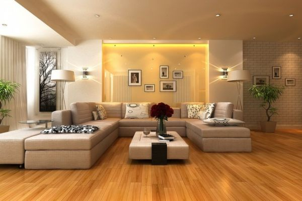 Stunning-living-room-sports-glossy-surfaces-and-a-golden-hue