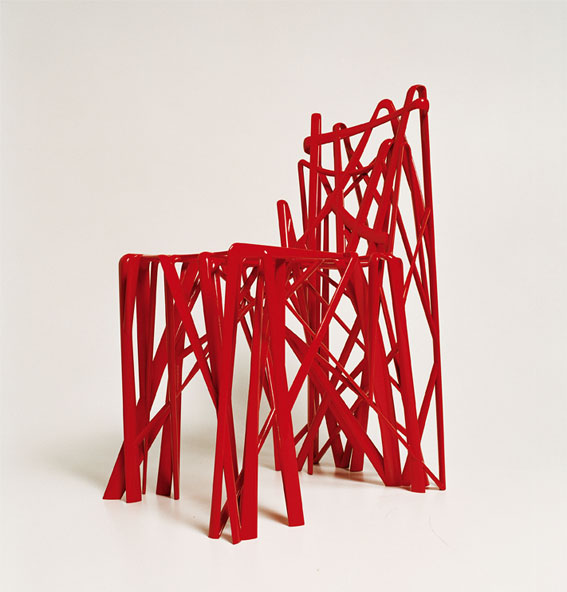 Patrick Jouin Solid Chair Red