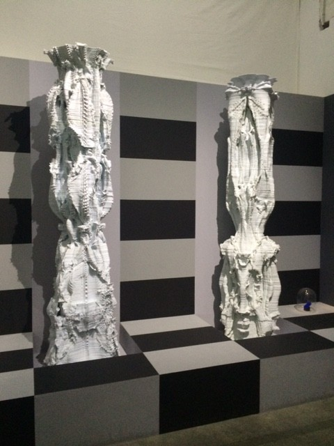 Michael Hansmeyer and Benjamin Dillenburger, 'Subdivided Column' 2010, L'Usage des Formes' expo, Palais de Tokyo.
