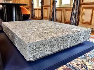 Table basse in pierre ceppo by Joseph Dirand