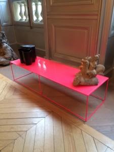 Pink table (Image 5)  Sentou  11x26x36cm