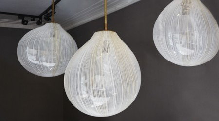 Filigree glass hanging lights
