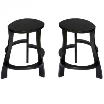 Pair of hand sculpted stools
