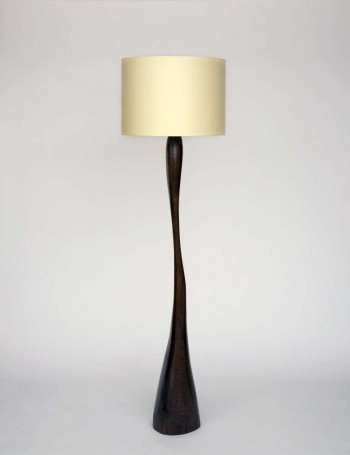Sculpted LEDA lamp in wood