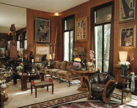 Grand Salon du 55 rue de Babylone, chez Yves Saint Laurent Photographie Nicolas Mathéus