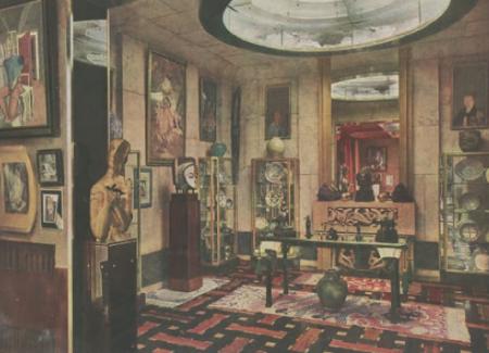 Studio Saint-James, demeure de Jacques Doucet, à Neuilly-sur-Seine Image parue dans L'Illustration, 3 mai 1930