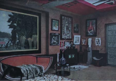 Studio Saint-James, demeure de Jacques Doucet, à Neuilly-sur-Seine, c. 1930 Image parue dans L'Illustration, N°4845