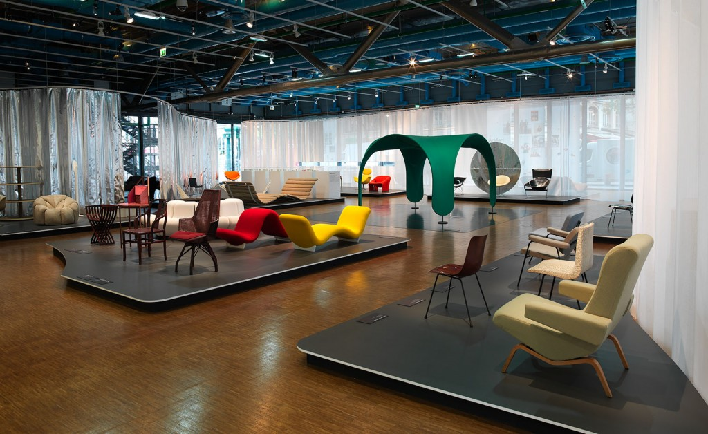 Pierre Paulin Retrospective at Pompidou Centre. Image courtesy of Wallpaper magazine