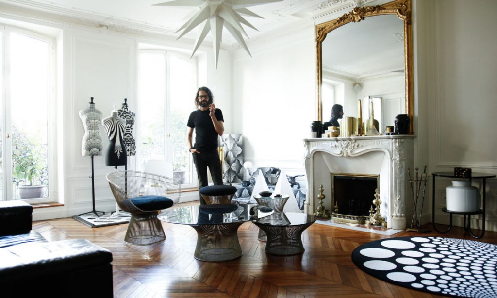Emmanuel Bossuet in his stunning appartment. Image courtesy of The Socialite Family