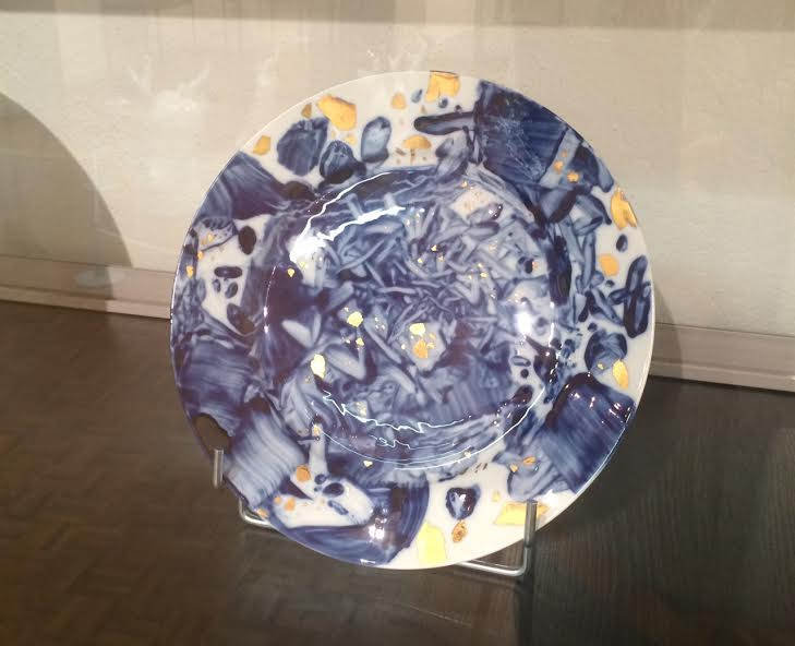 Porcelain plate from the Uni Service, 2008 by Chu The-Chun