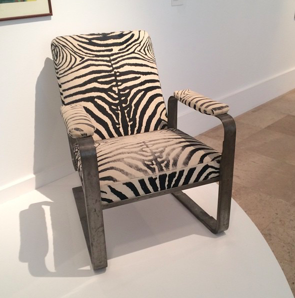 Chair in zebra skin by Michel Dufet