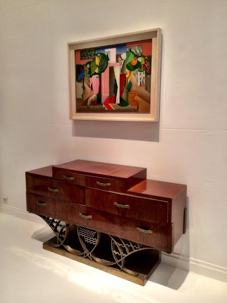 Commode by Eugene Printz; Cubist composition c1910-1920 by Léopold Survage