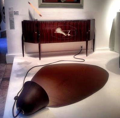 Exciting pairing! Bina Baitel floor lamp and Emile-Jacques Ruhlmann commode at Ddays 2014
