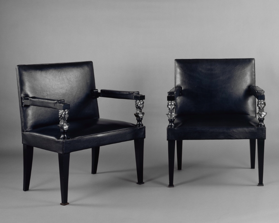 Pairs of chairs by André Arbus