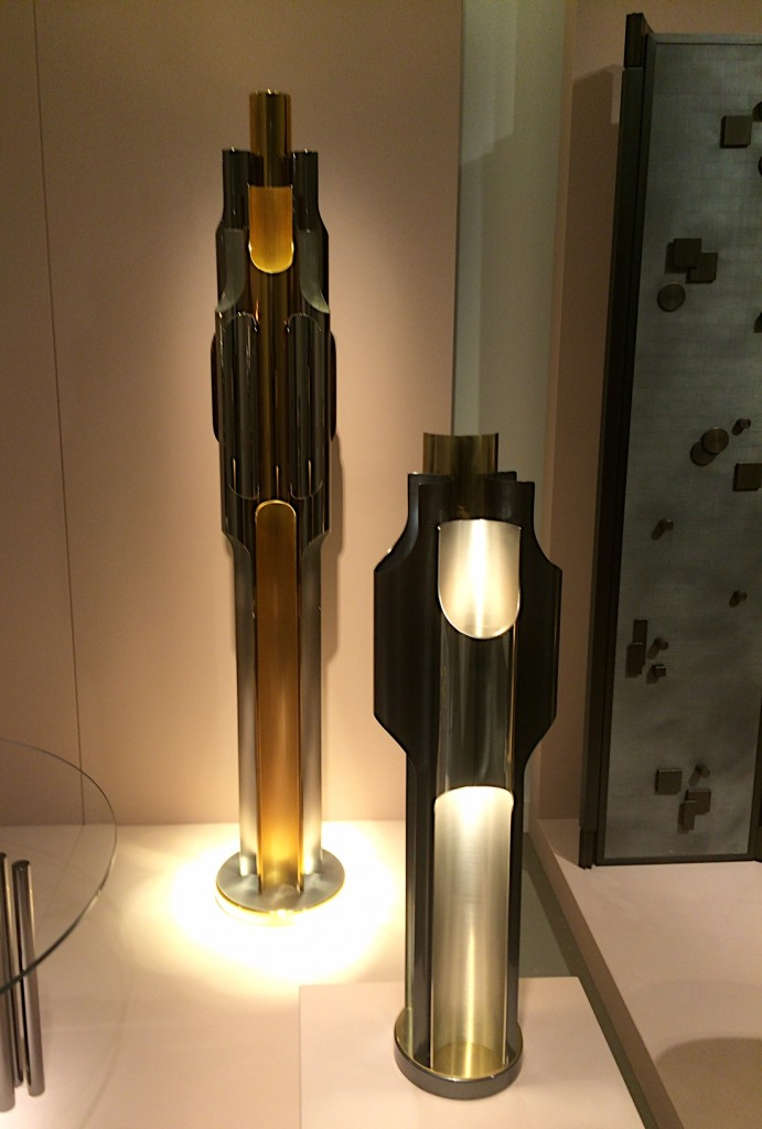 'Aelita' light and 'Orgues Redux' light by Emmanuel Bossuet for Maison Charles