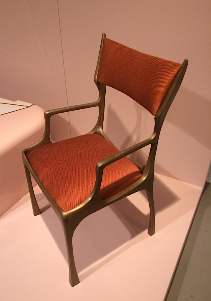 'Lamm' chair in patinated bronze by Charles Tassin
