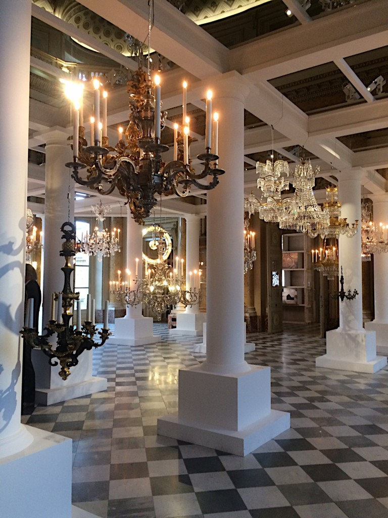 Entrance hall with chandeliers