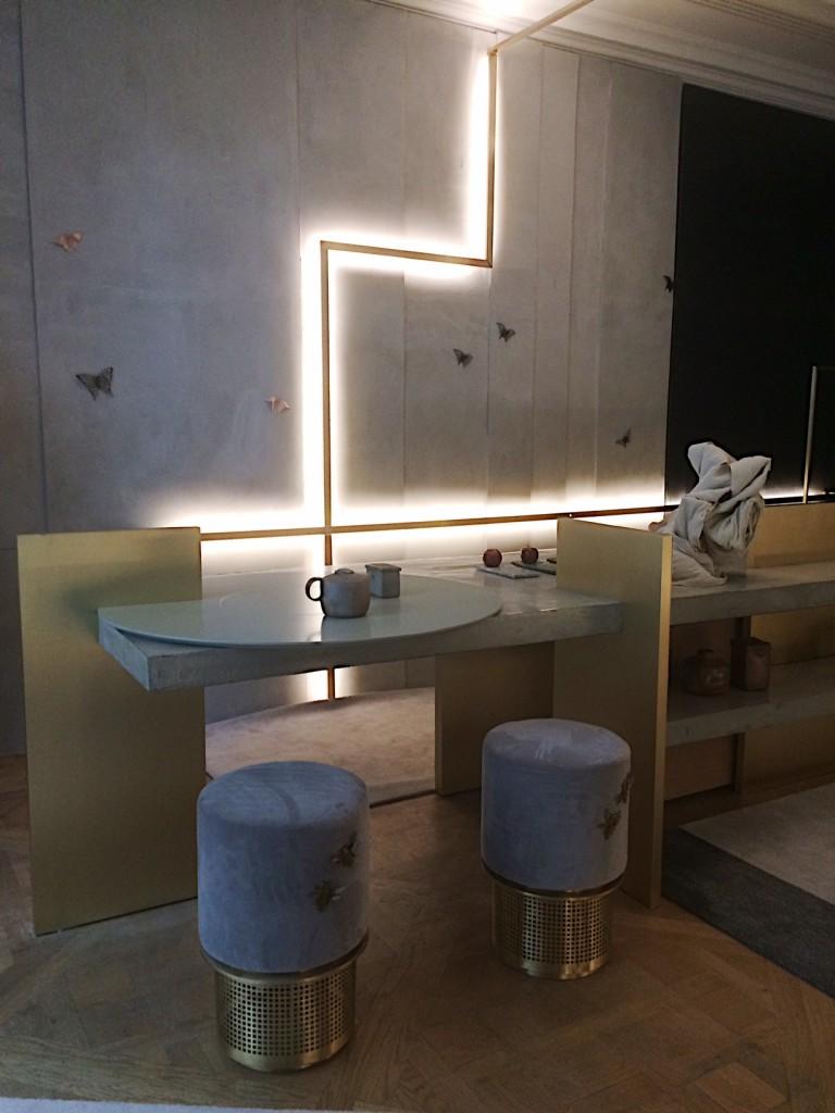 Isabelle Stanislas kitchen:salon with lighting