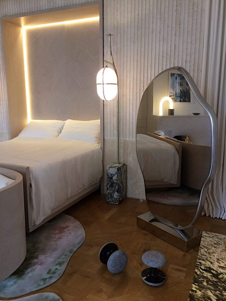 Mathieu Lehanneur mirror, bed